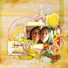 A fun-filled inspirational layout showcasing #SnickerdoodleDesigns NEW collection 'Strawberry Lemonade' Enjoy Introductory Savings 30% - 57% off  until August 14   #TheStudio, #digitalscrapbooking, #CTHS