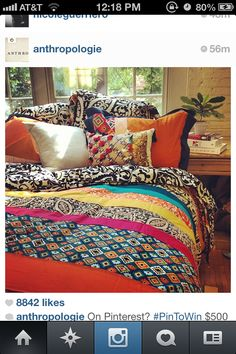 #PinToWin #contest @Anthropologie bed room decor