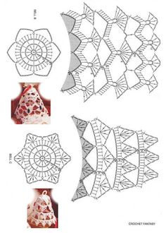 Best 10 Tried the middle one with standard-sized crochet thread. Turned out horribly, and was extremely large and crowded. I think the – Page 343258802834501832 – SkillOfKing. Crochet Christmas Decorations, Crochet Ornaments, Crochet Decoration, Crochet Snowflakes, Christmas Crafts, Crochet Diagram, Crochet Chart, Thread Crochet, Mug Rug Patterns