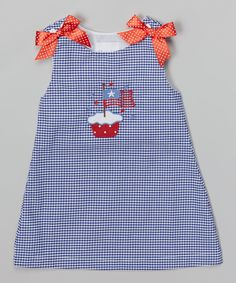 Blue Gingham Cupcake Jumper - Girls by Lil Cactus #zulily #zulilyfinds