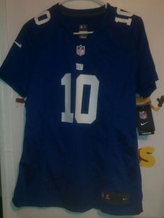 db5d00ca3 New York Giants  10 Eli Manning NFL Nike On Field Home Women s Large Jersey