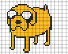 Jake Adventure Time perler bead pattern