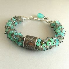 Anne Choi Gingko Leaf Wire Wrapped Bracelet  by SurfAndSand - love the texture of this bracelet.