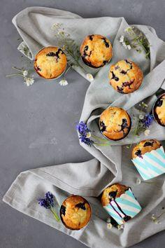 SahneWölkchen: Mein liebstes Rezept für ruck zuck Blaubeer-Vanille Muffins!