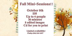 $35 Up to 4 people ($5/person after 4) It's never too early to start thinking of Christmas photos!
