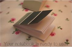 paint chip notebook diy 6 by e-elise152, via Flickr