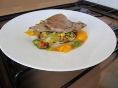 Veau   sautè   legumes   sauce   vert  et  aux  creme  de carottes    Gino  D'Aquino.