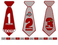 Baby Monthly stickers Ohio State Tie Stickers by DeniseBernice, $10.00