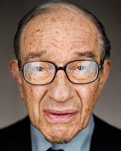 Martin Schoeller: Alan Greenspan, Close Up, Martin Schoeller Art Gallery, Martin Schoeller Pictures, Martin Schoeller Photos - New York City Martin Schoeller, People Photography, Portrait Photography, Close Up Portraits, Artwork Images, Famous Faces, Gq, Beautiful Men, Celebrities