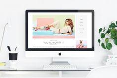 #bloggdesign #bloggno #kvdesign #bloggdesigner #blogdesign Pastel, Blog, Design, Cake, Blogging, Design Comics, Color Palettes