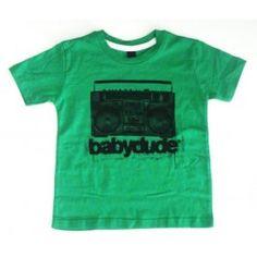 Groen T-shirt met radio - Babydude