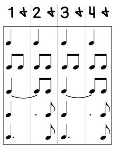 DOTTED QUARTER NOTE DIAGRAMS -