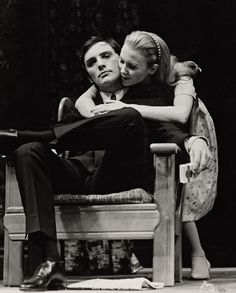 """Terence Stamp and Juliet Mills in """"Alfie"""" by Bill Naughton, Theatre Plays, Broadway Theatre, Juliet Mills, Terence Stamp, Behind The Scenes, Acting, Folk, Stage, Magic"""