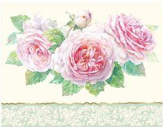 Carol Wilson Stationery  Rose Trio Note Card Portfolio