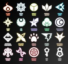 Caper Of Knaio: Symbols (March 2014 Update) by Karite-Kita-Neko Cool Symbols, Magic Symbols, Ancient Symbols, Drawing Tips, Drawing Reference, Magia Elemental, Neko, Types Of Magic, Elemental Powers