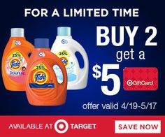 Tri Cities On A Dime: PURCHASE 2 TIDE PRODUCTS AT TARGET AND RECEIVE $5....