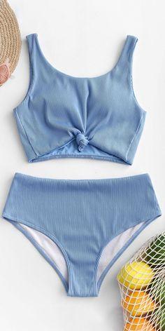 Cute blue tankini swimsuit bikinis set - Source by swimwear Summer Bathing Suits, Girls Bathing Suits, Summer Swimwear, Bathing Suits One Piece, Modest Bikini, Bandeau Bikini, Bikini Swimwear, Sporty Swimwear, Retro Swimwear
