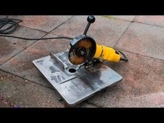 Make your own mini angle grinder stand and metal chop saw - YouTube