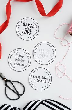Five Favorite Holiday Cookie Recipes and Free Printable Label