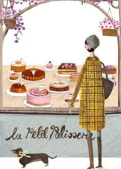 La Petit Patisserie A4 Archival Kunstdruck