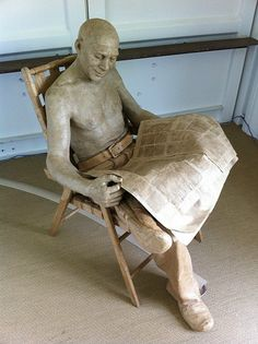 These life-size sculptures are made of paper!!! This is truly amazing pieces of art!