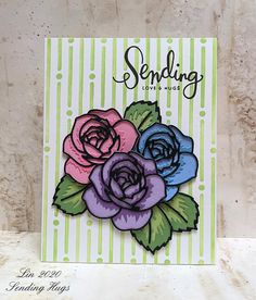 Sending Hugs: Simon Says.Use a Stencil Simon Says Stamp Blog, Sending Hugs, Rose Frame, Die Cut Cards, Antique Roses, Penny Black, Distress Ink, Flower Cards, Clear Stamps