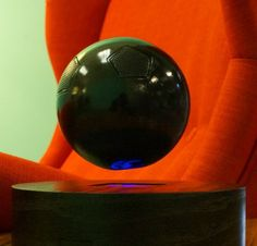 Using the now well-known idea of magnetic levitation, the  OM/ONE speaker floats about an inch off its base, allowing the user to spin it around in mid-air while listening to the audio.