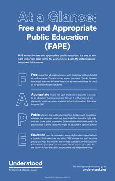 What Is Free and Appropriate Public Education? | Definition of FAPE - Understood