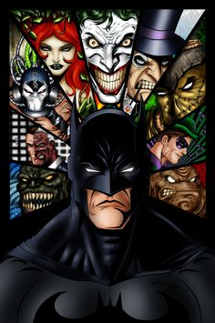 Batman and Villains Ink colored Pencils by [link] Inks by [link] Colors by me Lemme know what you think. Batman and Villains Ink colored Comic Book Characters, Comic Books Art, Comic Art, Comic Villains, Gotham City, Batgirl, Catwoman, Geeks, Harley Queen