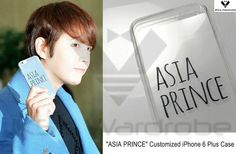 """Made by MODINE DE SEINE """"@JKS_Wardrobe: [2015/03/11 AIRPORT] @AsiaPrince_JKS holds a Customized iPhone 6 Plus Case. """""""