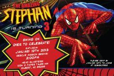 The Amazing Spiderman Birthday Invitation by PaperTalesCustom, $30.00