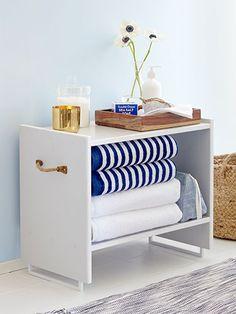 Turn a $15 Ikea Nightstand Into Stylish Bathroom Storage