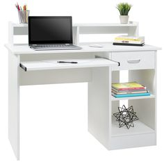 Computer Desk Home Laptop Table College Home Office Furniture Work Station White - Workstation Office - Ideas of Workstation Office - Computer Desk Home Laptop Table College Home Office Furniture Work Station White Price : Small Office Desk, Home Office Desks, Home Office Furniture, Study Office, Corner Furniture, Furniture Ideas, White Office, Kids Study Desk, Desks For Small Spaces