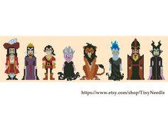 Cross+stitch+pattern+Classic+Disney+villains+Instant+par+TinyNeedle