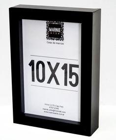 Portarretrato 10x15 Tipo Box Negro Laqueado