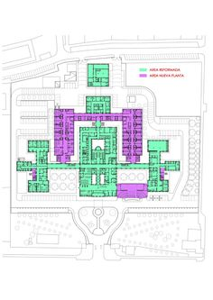 Image 30 of 30 from gallery of Avila Hospital / EACSN. Hospital Architecture, Healthcare Architecture, Futuristic Architecture, Architecture Plan, Hospital Floor Plan, Hospital Plans, Hospital Design, Architecture Graphics, Room Planning