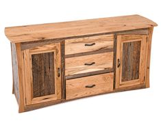 Barn Wood Credenza available at Woodland Creek Furniture in custom sizes and layouts.