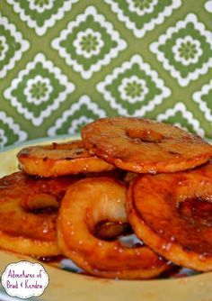 Sliced Cinnamon Apples!  Look yummy, I'd top my pancakes with these!