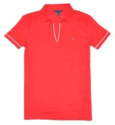 Tommy Hilfiger Women V-Neck Logo Polo T-Shirt $29.99