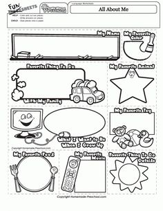 See 4 Best Images of About.me Preschool Printable.me Preschool Printable printable images. All About Me Preschool Theme Printables All About Me Printables Free All About Me Preschool Worksheet All About Me Book Templates Me Preschool Theme, All About Me Preschool, All About Me Activities, Preschool Worksheets, Art Worksheets, Speech Activities, Work Activities, Preschool Printables, Preschool Classroom