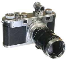 #Nikon S Circa 1951  The Nikon S was introduced in 1951 as an upgraded replacement for the Nikon M, with flash sync contacts and two sockets at the upper left-hand edge of the body. All #cameras sold with this feature are considered a Nikon S by the factory, even if marked M.  The Nikon S sold well, almost 37,000 units.     This Model S is featuring a 135mm (1.35cm) lens and the external viewfinder matched to the 135mm lens with parallax view adjustments.