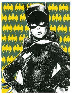 Yvonne Craig pop-art Batgirl.