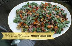 Kick-Ass Kumara, Kransky and Spinach Salad