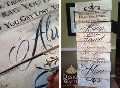 wooden sign transfer distressing