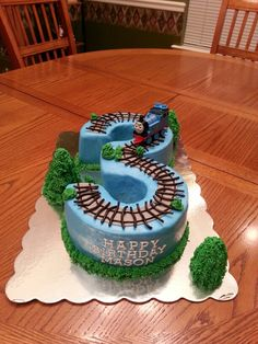 Thomas The Train 3rd Birthday Boy Cake. I feel like I could change this into a chuggington cake!