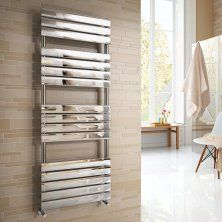 1600x600mm Chrome Flat Panel Ladder Towel Radiator - Francis Range