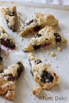 Blackberry Scones with Chambord Glaze - tender scones filled with blackberries and drizzled with glaze
