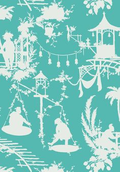 SOUTH SEA, Turquoise, T16019, Collection Resort from Thibaut