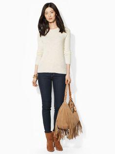 A seasonspanning essential this lightweight crewneck sweater is pointelleknit from ultrasoft cotton. #Fashion  #RalphLauren