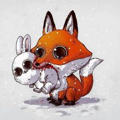 Wild illustrations by Alex Solis? Works of artist alex solis? Comics and Illustrations on life cycle? Cartoon Pencil Drawing, Cartoon Drawings Of Animals, Cute Cartoon Animals, Cute Animal Drawings, Cute Animal Pictures, Cartoon Pics, Cute Drawings, Cute Animals, Pencil Drawings